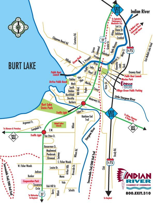 Indian River Michigan Map Kayak Pinterest Rivers Vacation