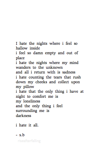 poems about sadness