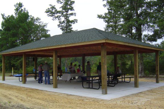 Picnic Shelter Plans Pool Patio Plan Picnic Outdoor Projects