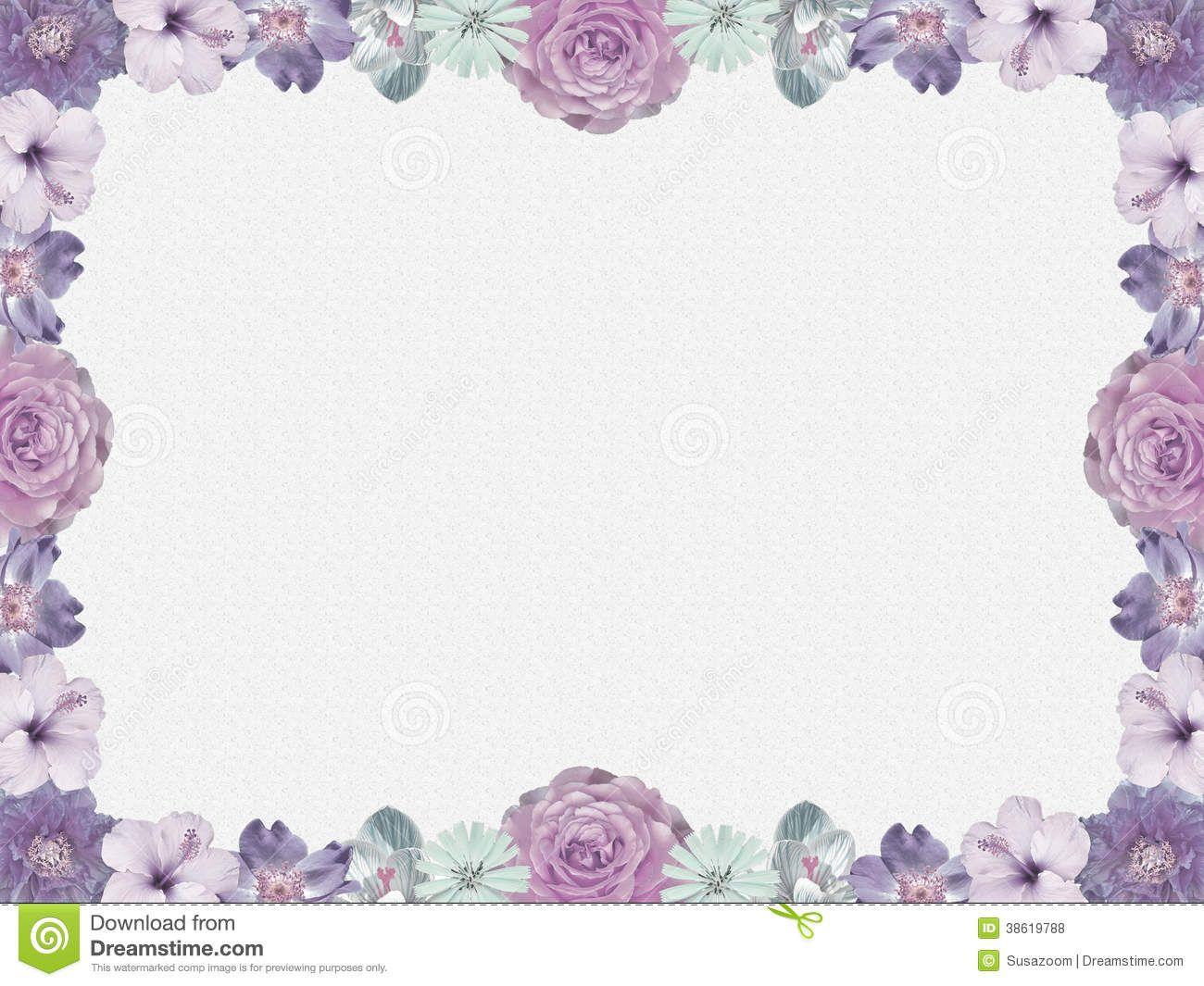 Lavender Background Wedding Wedding Invitation Border Wedding Invitations Borders Flower Frame Floral Border