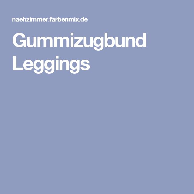 Gummizugbund Leggings