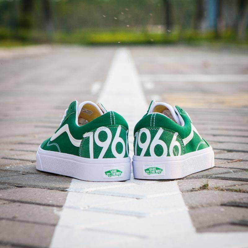 d2d0490381 Vans 1966 Old Skool Classic Ultramarine Green True White Womens Shoes  Vans