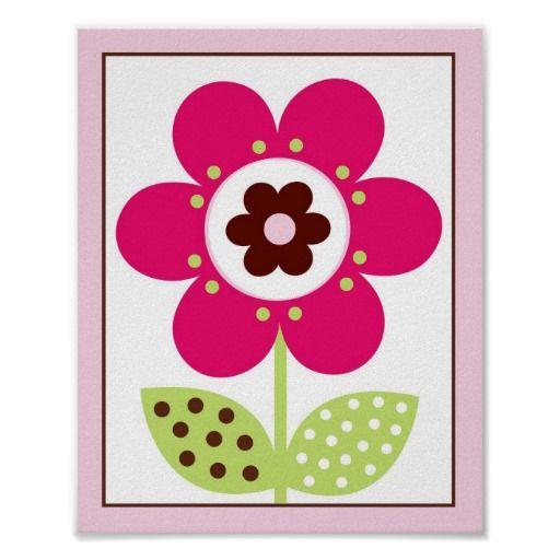 Berry Garden Flower Nursery Wall Art Print 8X10