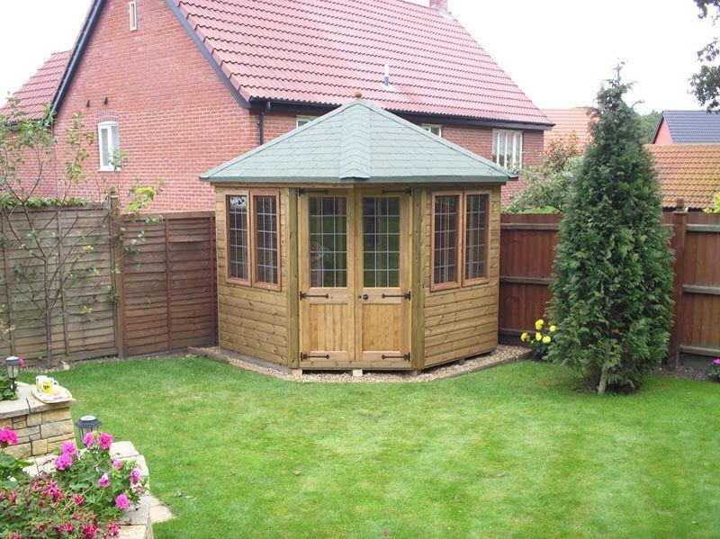 Garden Sheds Yarnton corner summerhouse | jardin | pinterest | pool cabana, garden