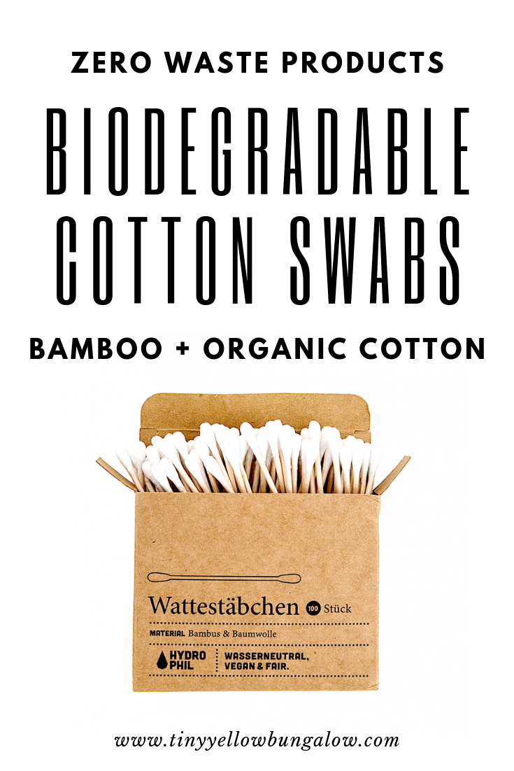 Biodegradable Cotton Swabs Biodegradable products, Zero