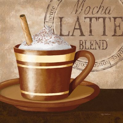 Mocha Latte Art Print Kathy Middlebrook Art Com Mocha Latte Coffee Art Latte