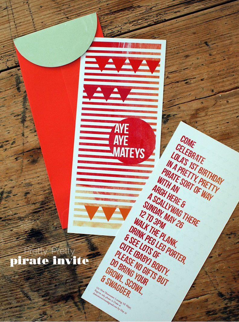 Pretty, Pretty Pirate Invitation, Free Download | Domestic Slice ...