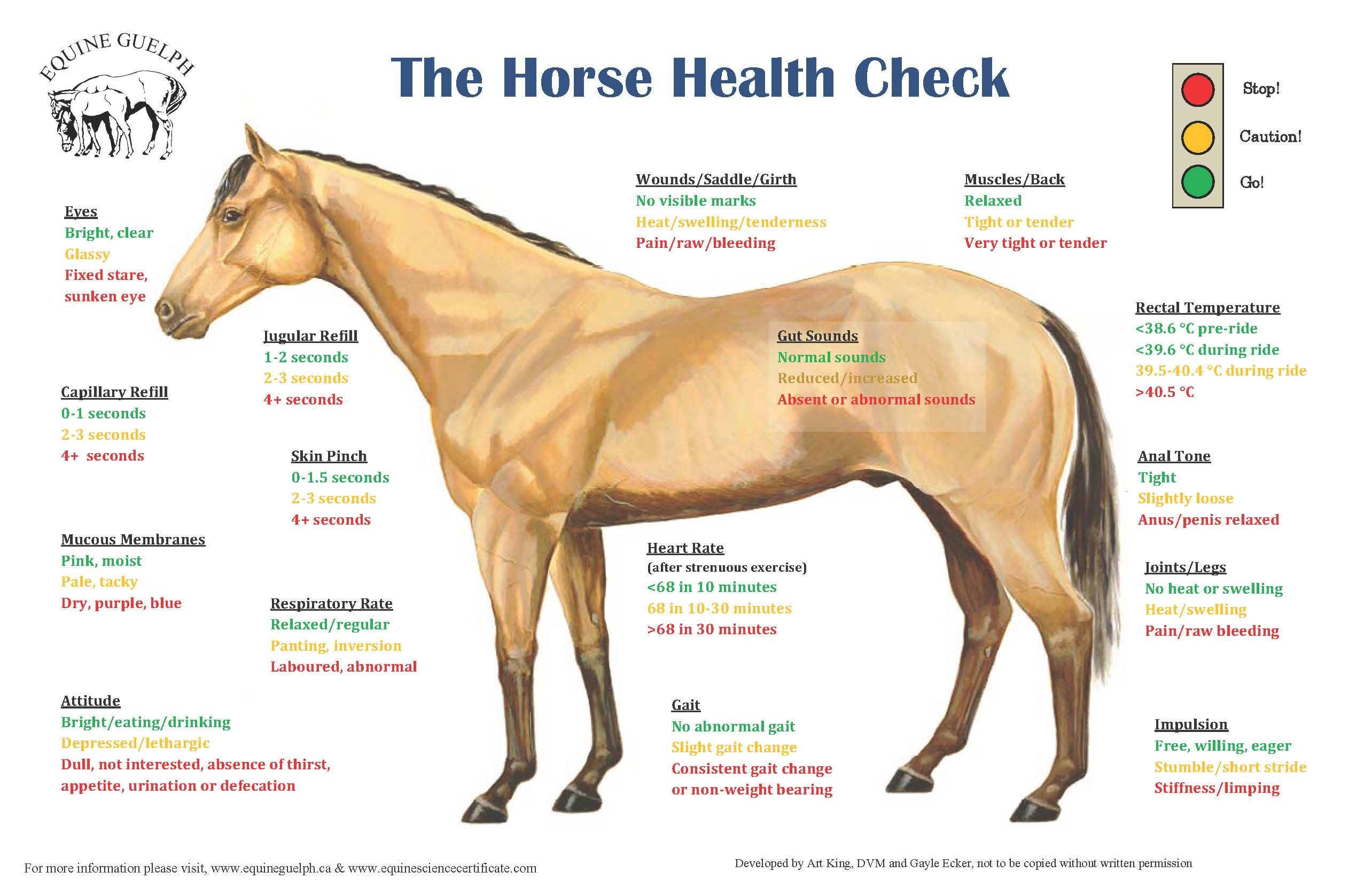 Horse Health Check List Http Www Equineguelph Ca Pdf Facts