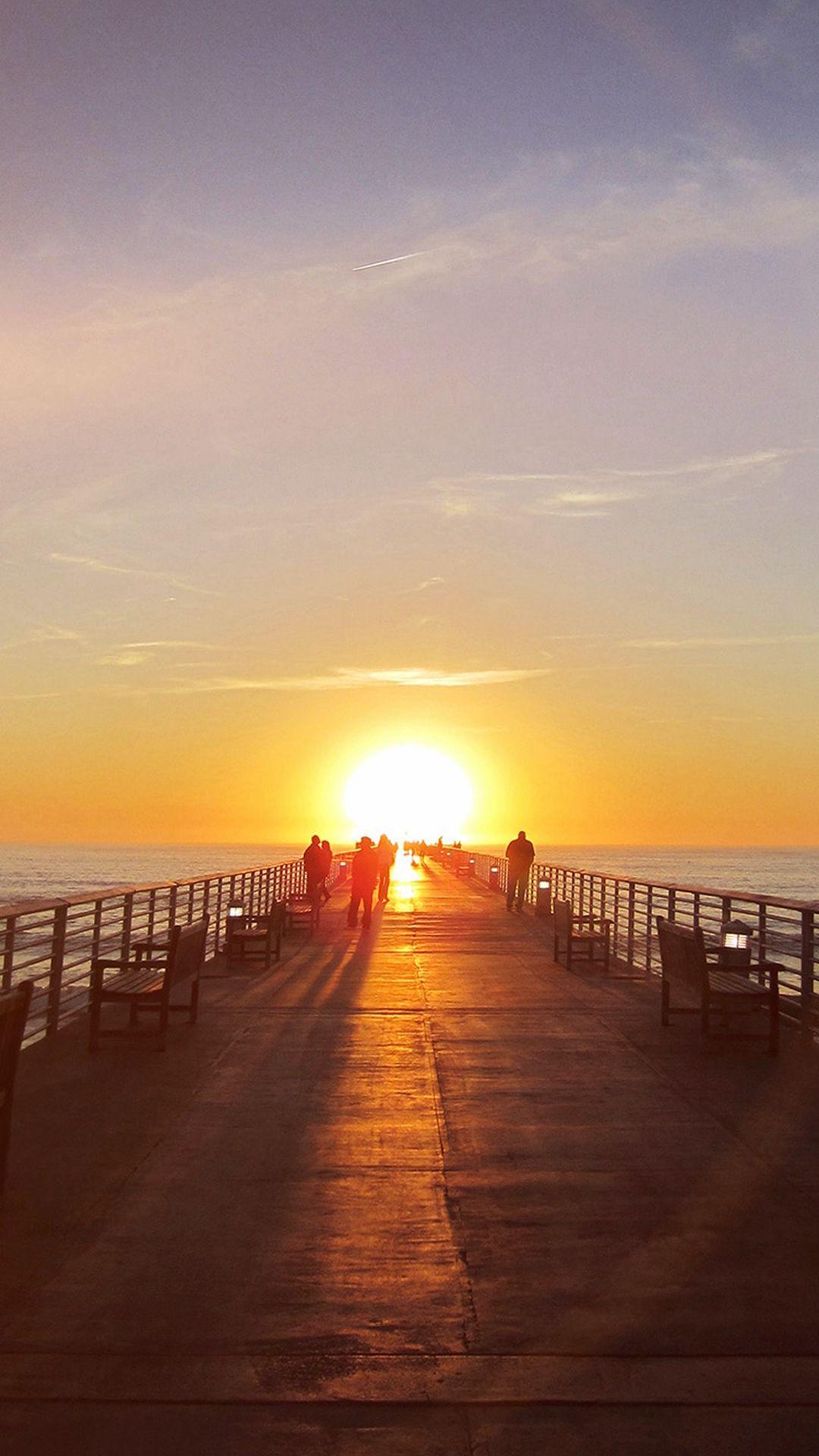 Sunny Sunset Morning Nature Sea Flare iPhone 8