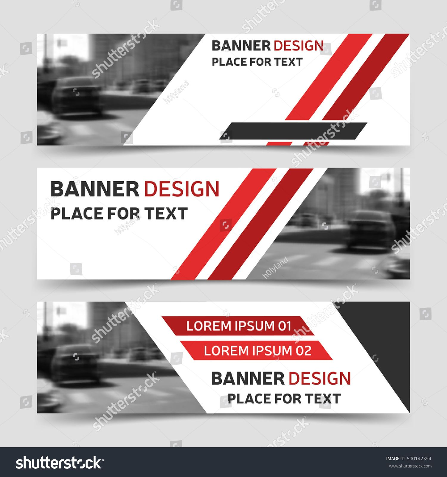 Set of red horizontal business banner templates vector corporate set of red horizontal business banner templates vector corporate identity website design collection of modern abstract background layout eps10 wajeb Image collections