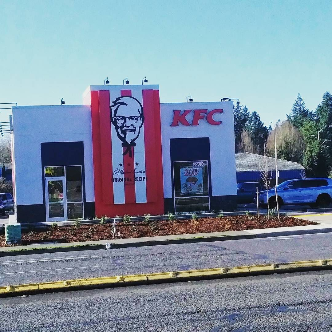 Our new KFC is all finished and open for business. kfc