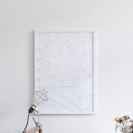 """Leaf lines (green)"" art print Silke Bonde"