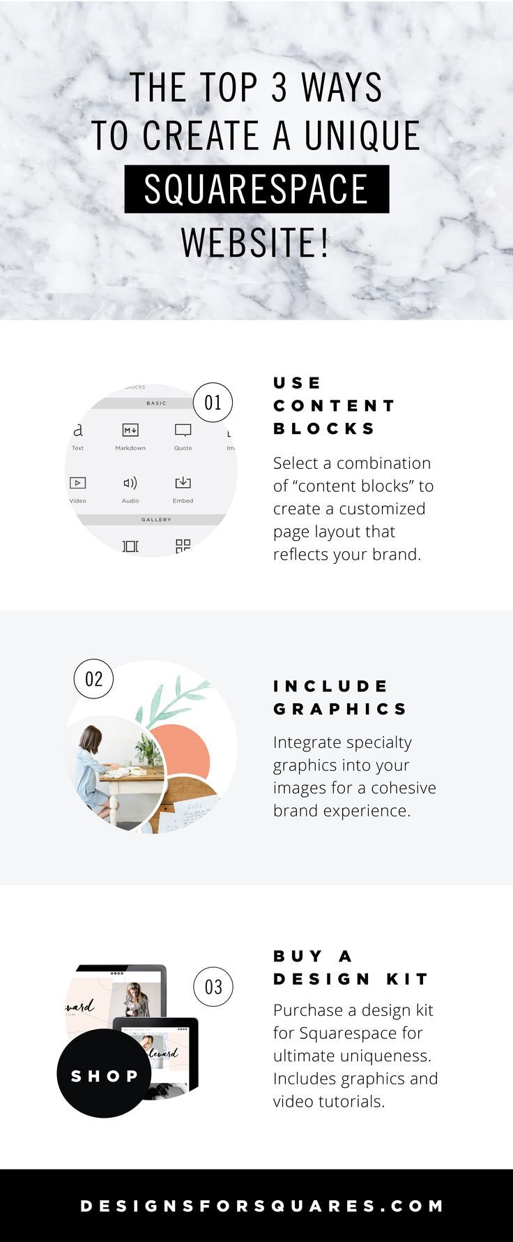 Beautiful pin design... Square Space customization tips (and a clever advertisement)