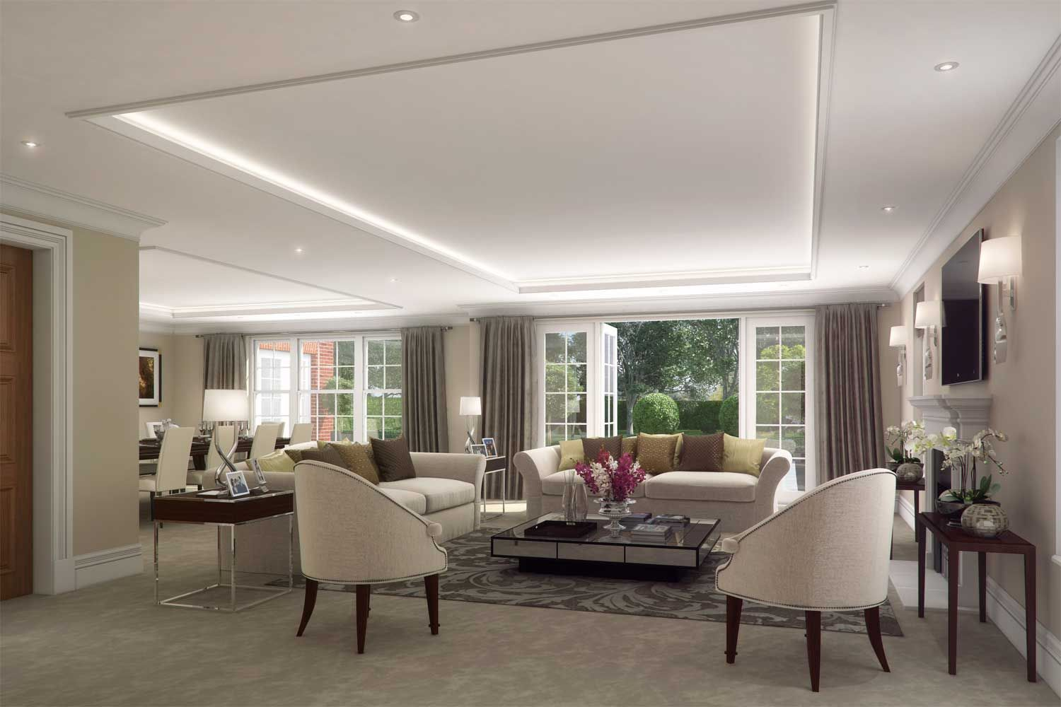 Architectural visualisation of a reception room ...