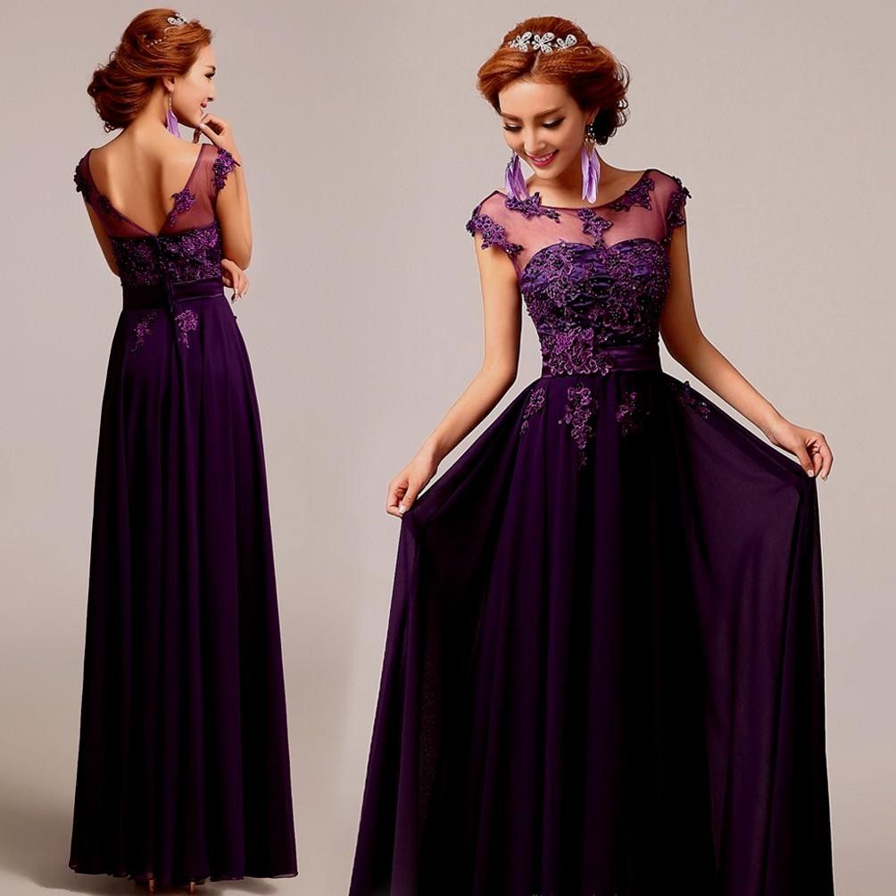Purple Bridesmaid Dresses With Lace Sleeves Naf Dresses  73d6c2f76