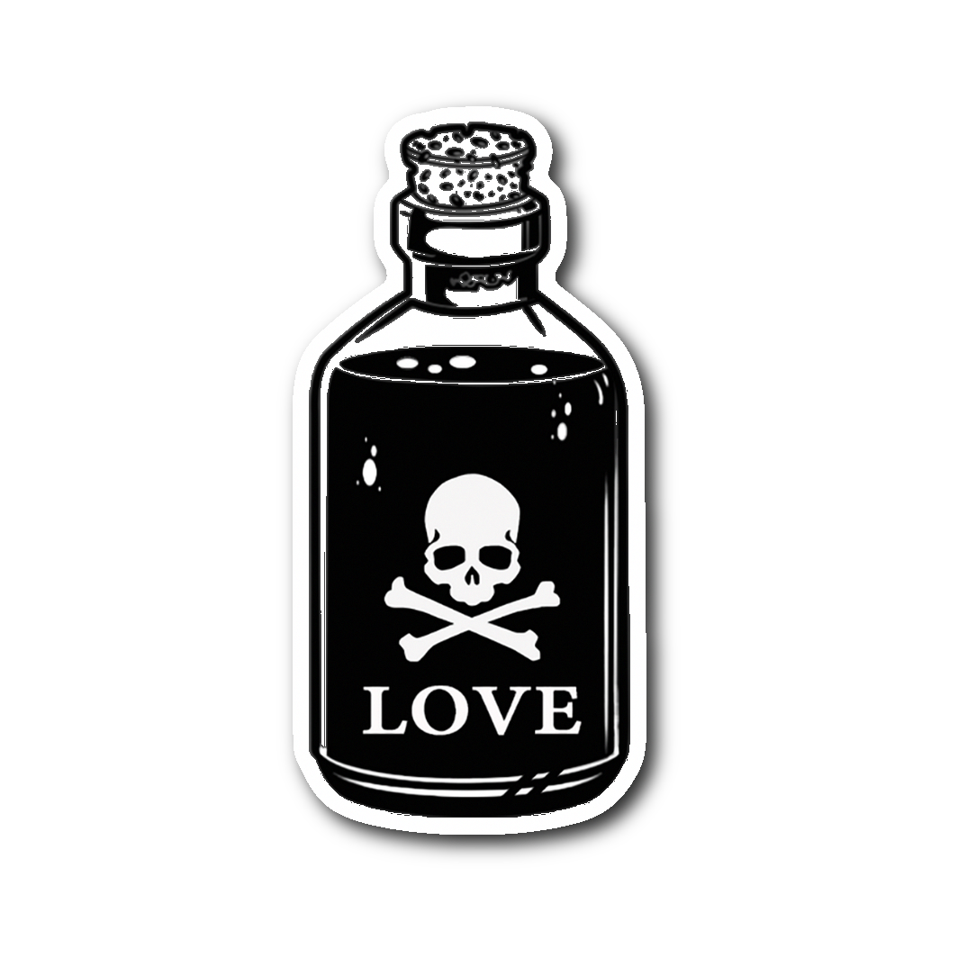 Love Poison Love sticker 2x4 in 2019 Tattoo designs, Art