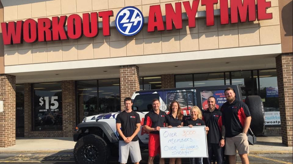 Congratulations To Workout Anytime Powell Tennessee On Over 4 Years Of Excellent Service To The Powell Community This A Anytime Fitness Gym Franchise Workout