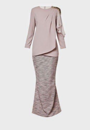 Desain baju kebaya modern semi mermaid