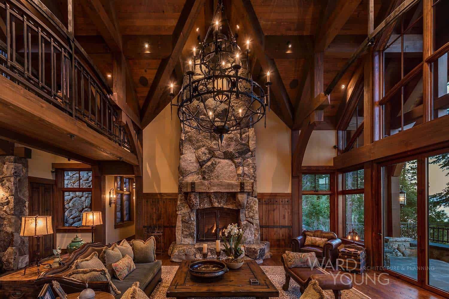Stunning Lodge Style Home With Old World Luxury Overlooking Lake