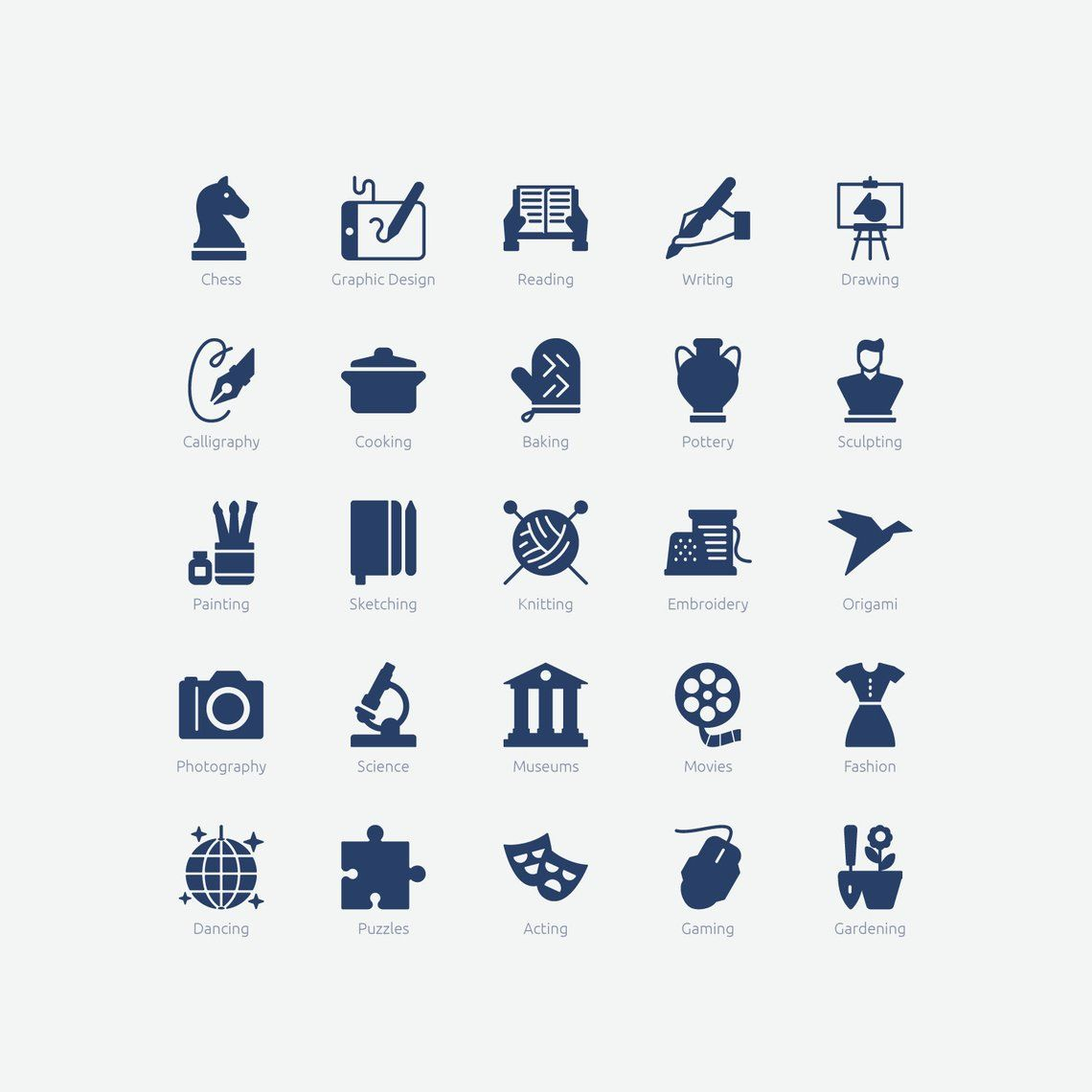 Interests Icons In Vector And Png Etsy All Icon Vector