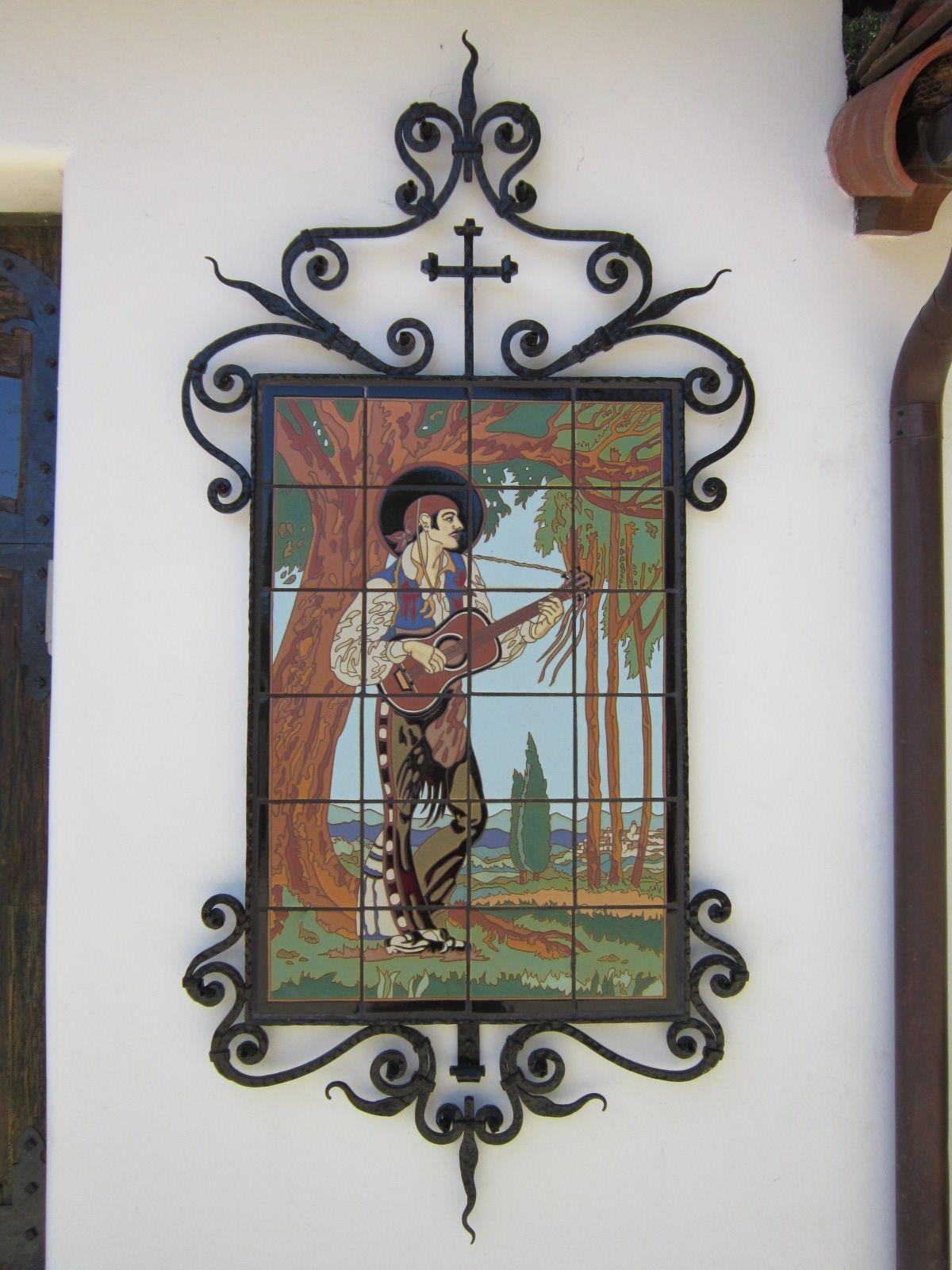 Senor Dancer Tile Mural In Our Iron Frame Tile Murals Vintage