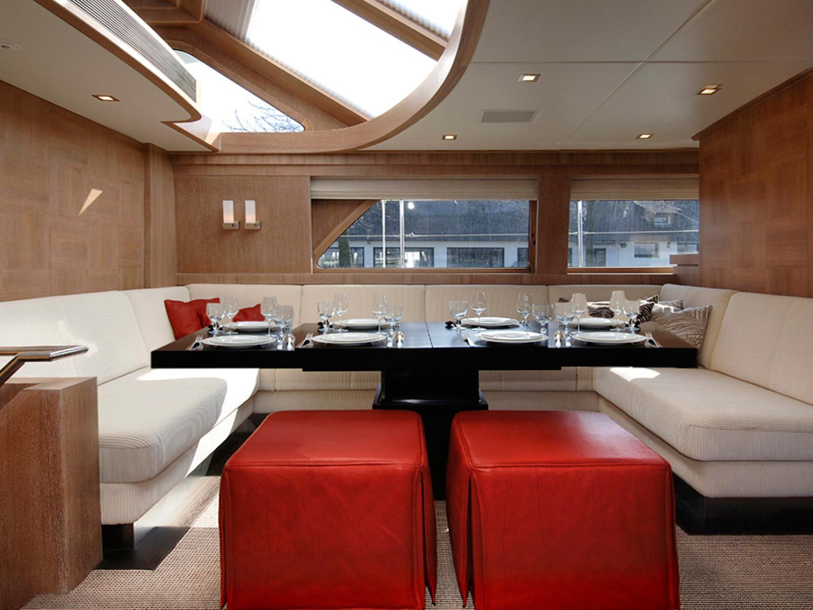 Interiors Of Luxury Yachts  Yacht  Interior  Mulder 73 Stunning Red And Black Living Room Decorating Ideas Inspiration