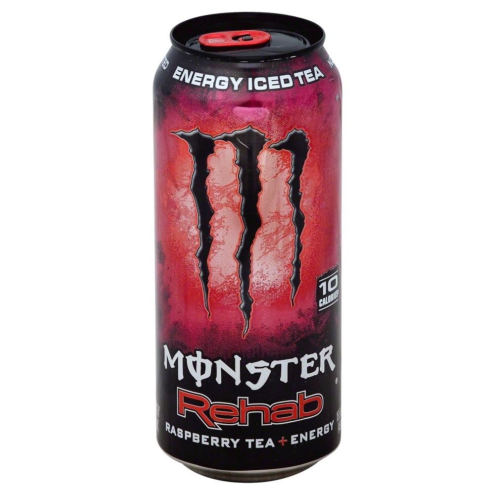 Monster Rehab Raspberry Tea Energy 16 Fl Oz Can Monster Energy Drink Raspberry Tea Energy Drinks
