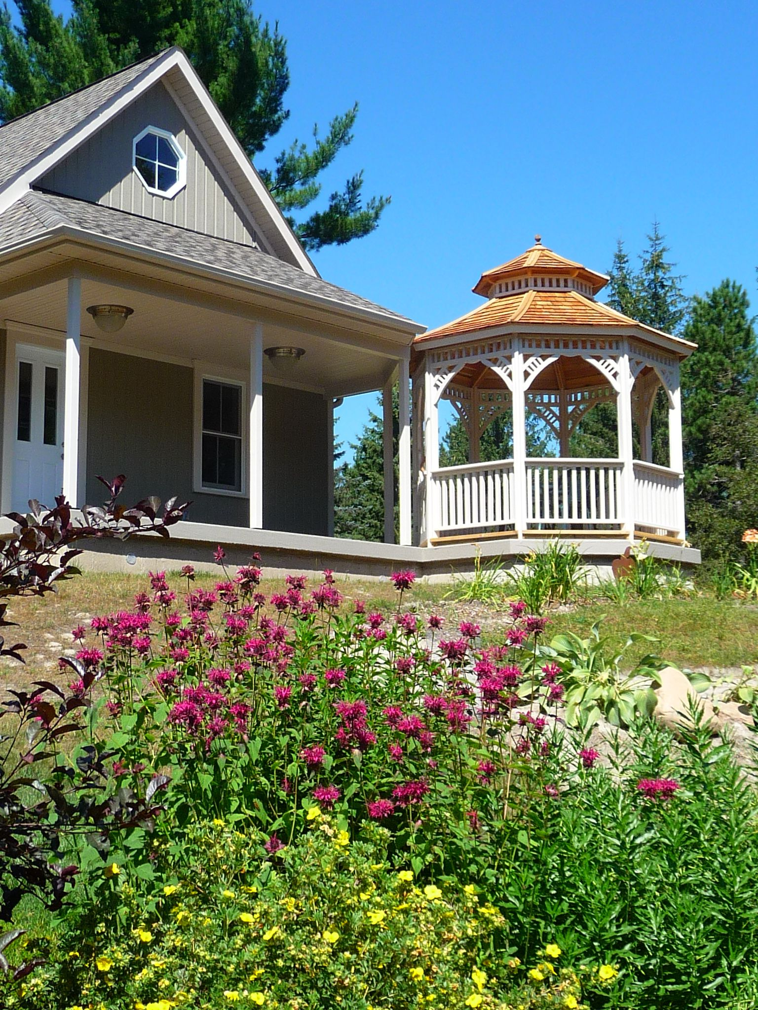 One of our top picks for the best prefabricated gazebo design - Victorian by Summerwood