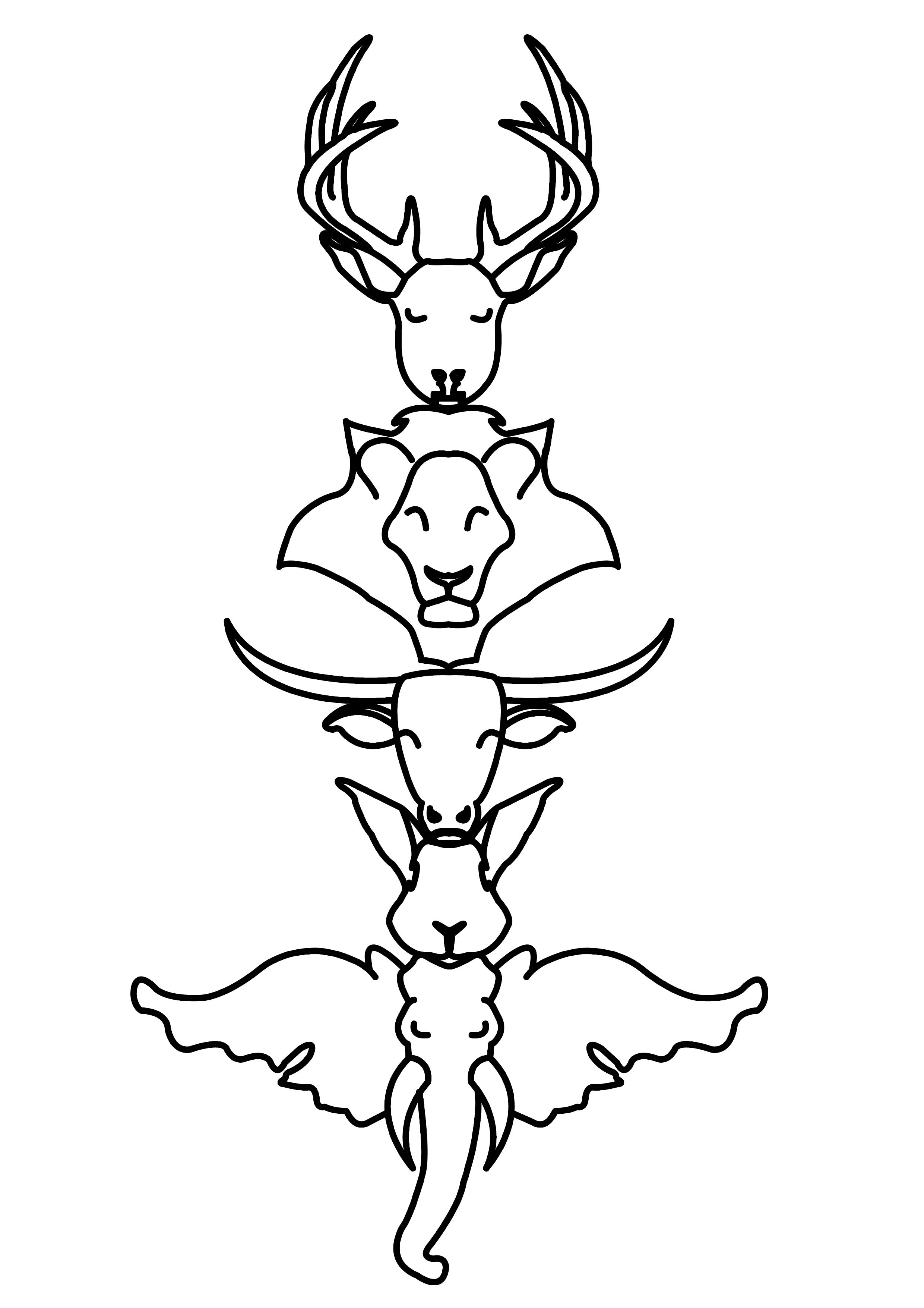 Totem Pole Coloring Pages Cool