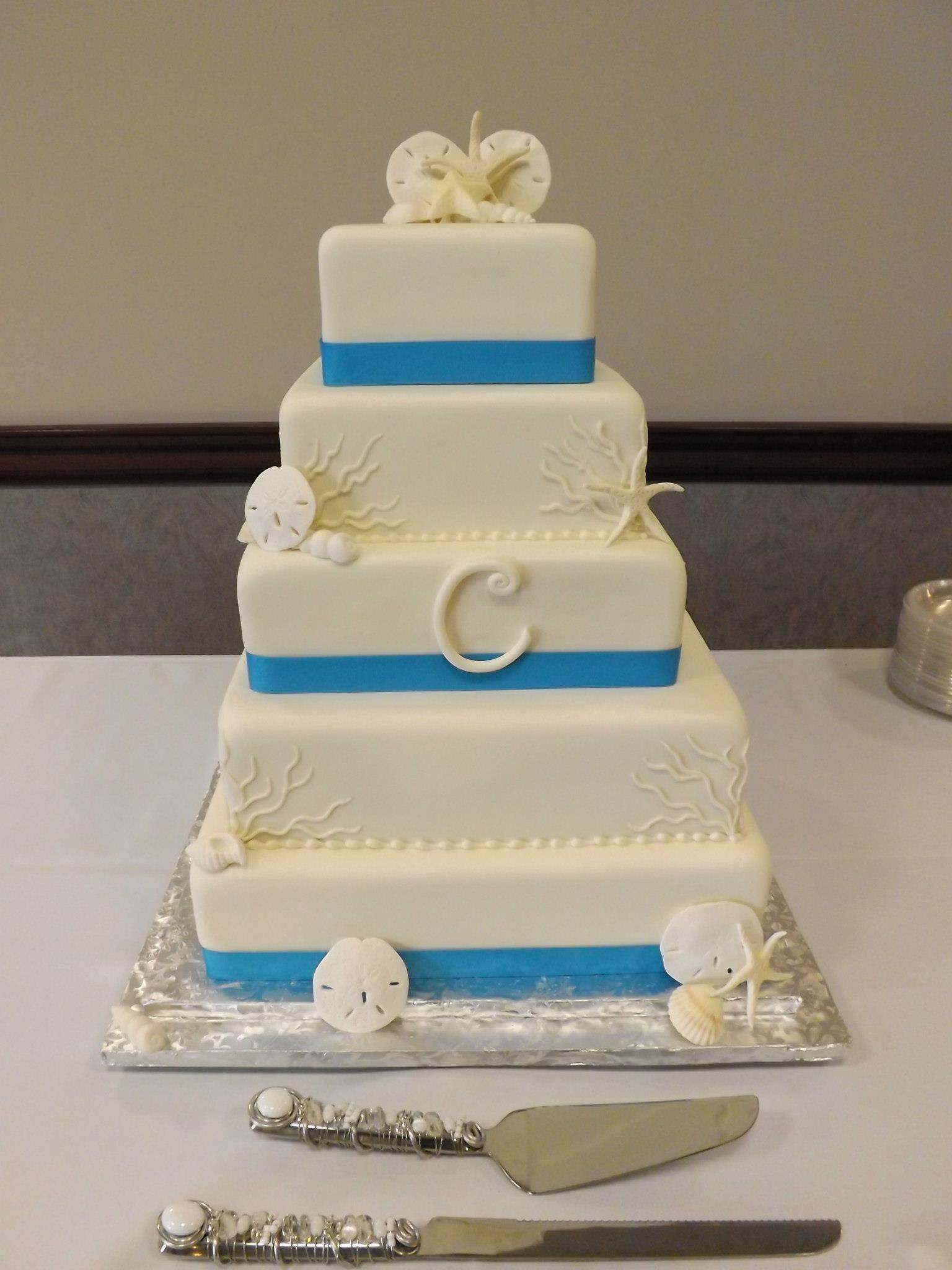 Seashell Themed Wedding Cake Wicked Wedding Cakes Pinterest - Wicked Wedding Cakes