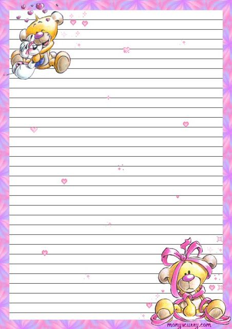 Lined Stationery Hojas Decoradas Pinterest Stationery   Lined Stationary  Template  Lined Stationary Template