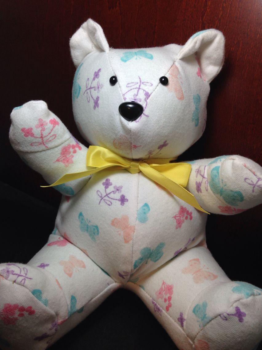 Memory bear made from newborn sleeper. | kids | Pinterest | Kinder ...