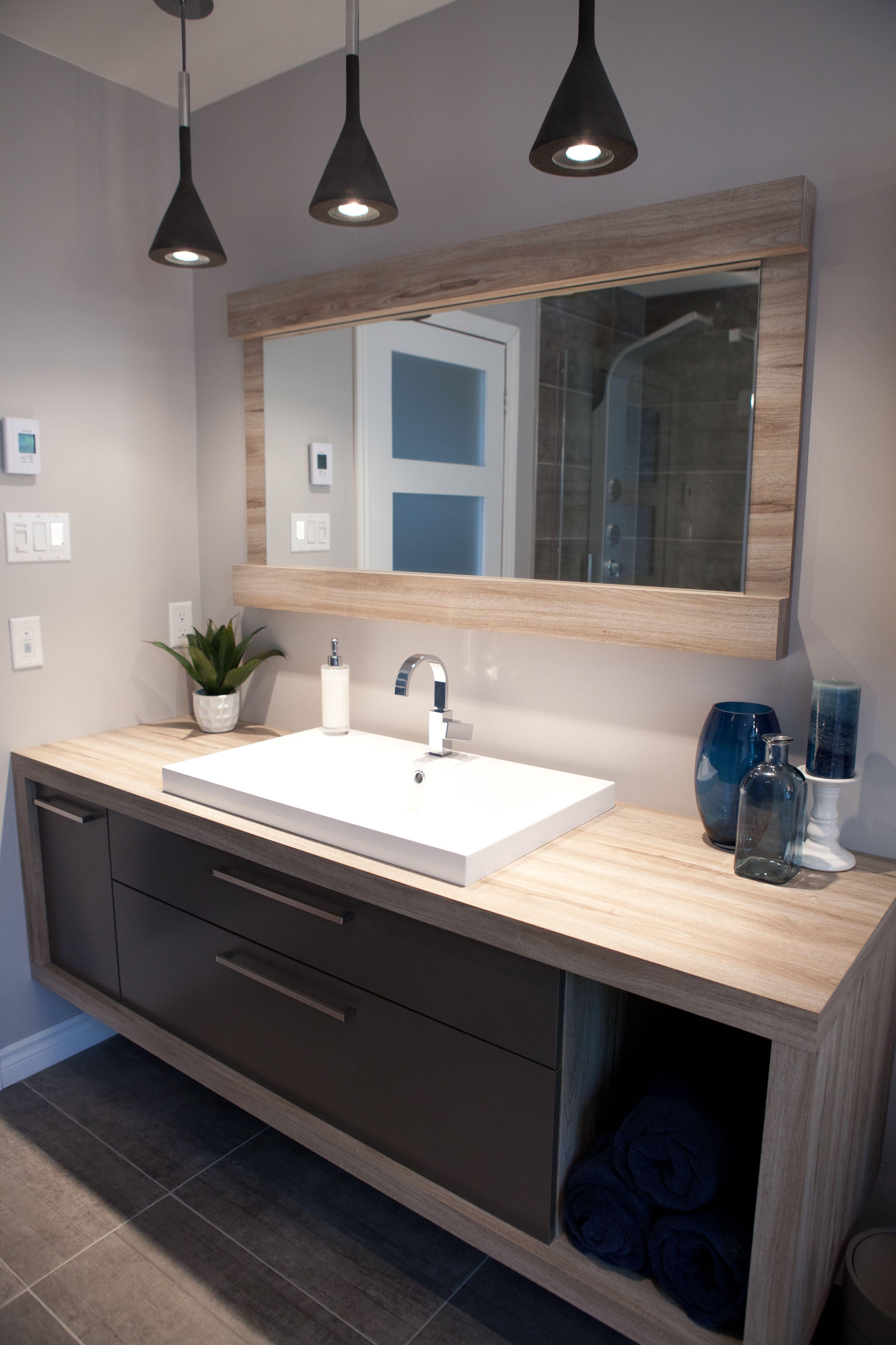 Vanité de salle de bain projet sur mesure. | Salle de bain ...