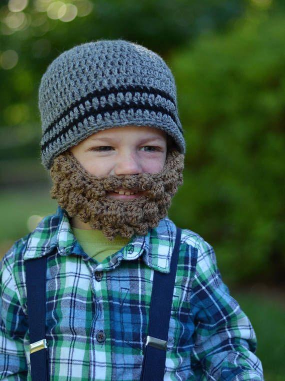 Bearded Baby Hat - Baby Lumberjack Hat - Lumberjack Beard - Lumberjack  Beanie - Crochet Lumberjack B edcba23d96a