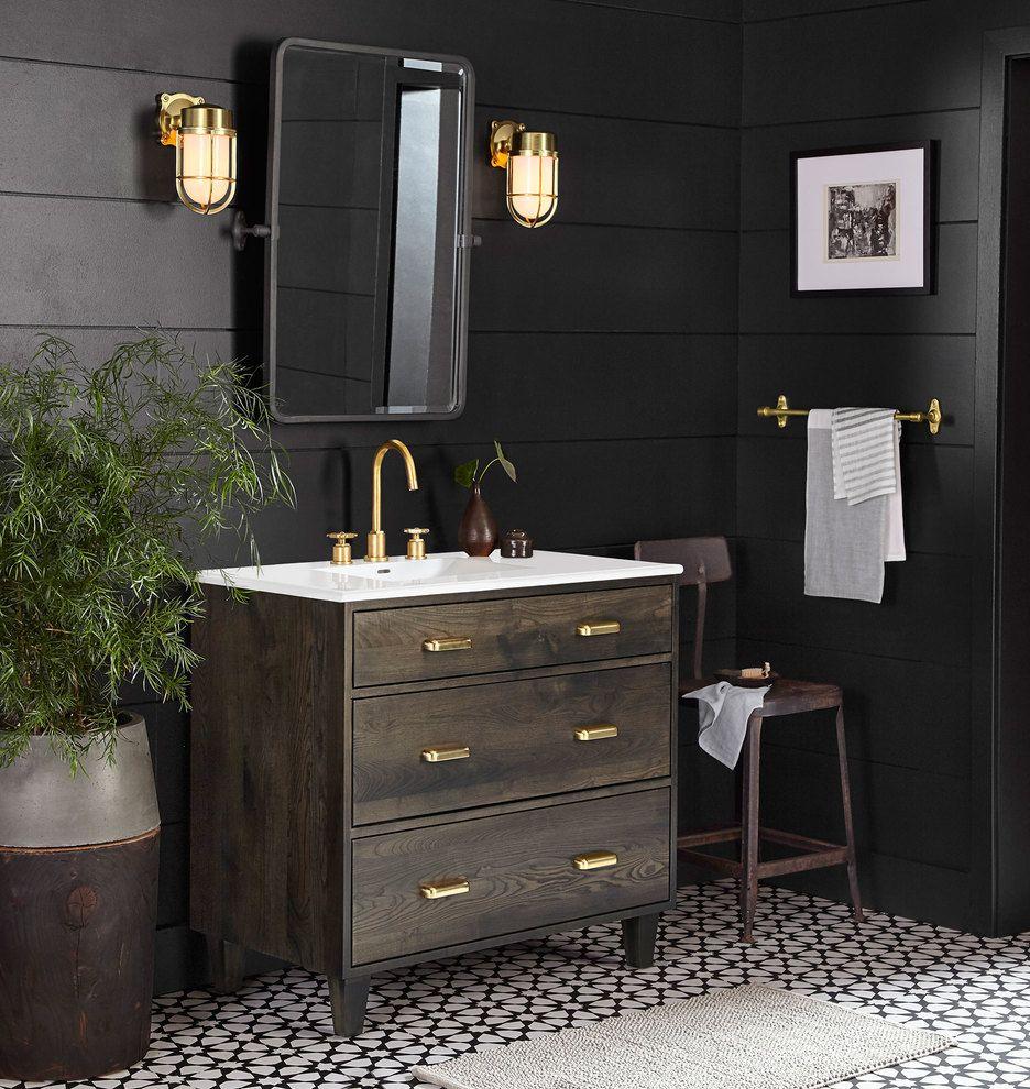 Pin de Adrián Barrón en baño | Baños negros, Baños para ...
