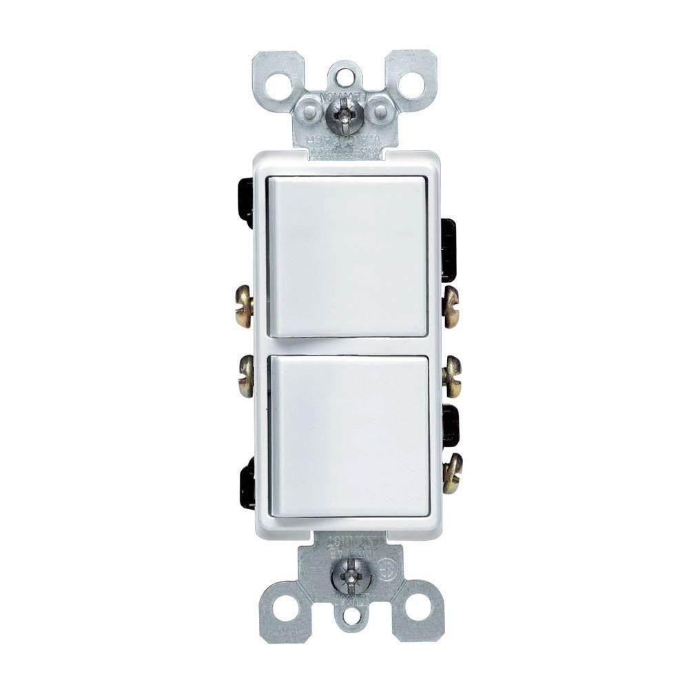 Leviton decora 15 amp 3 way ac combination switch white psbr leviton decora 15 amp 3 way ac combination switch white sciox Choice Image