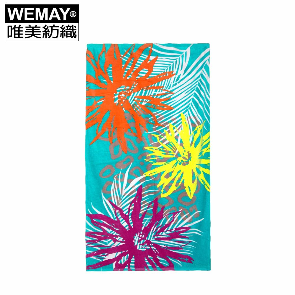 Big Floral Green Towel Hot Sale 100 Cotton Bath Towel Bathroom