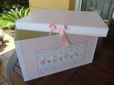 De Cartón Y Trapo Caja Para Guardar La Ropa De Candela Caja De Cartón Cajas Decoradas Cajas