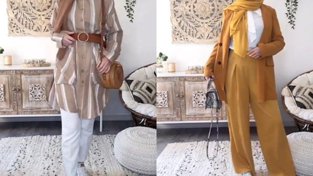 تنسيقات ملابس محجبات للمدرسة Hijab Lookbook Fashion Outfits Fashion Kimono Top