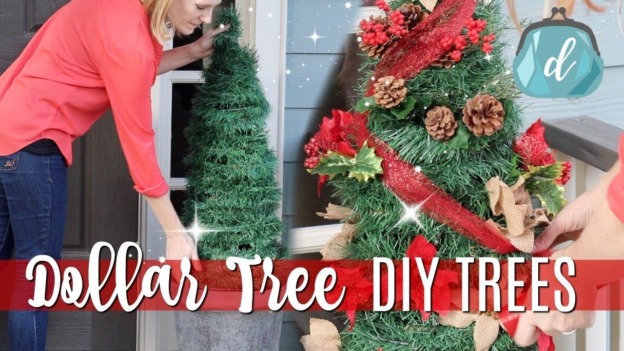 Dollar Tree Christmas Diys Giant Porch Trees For Cheap