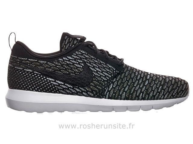 tout neuf a22eb 7adfc Nike Flyknit Roshe run Noir / Gris Roshe Run Femme Rose ...