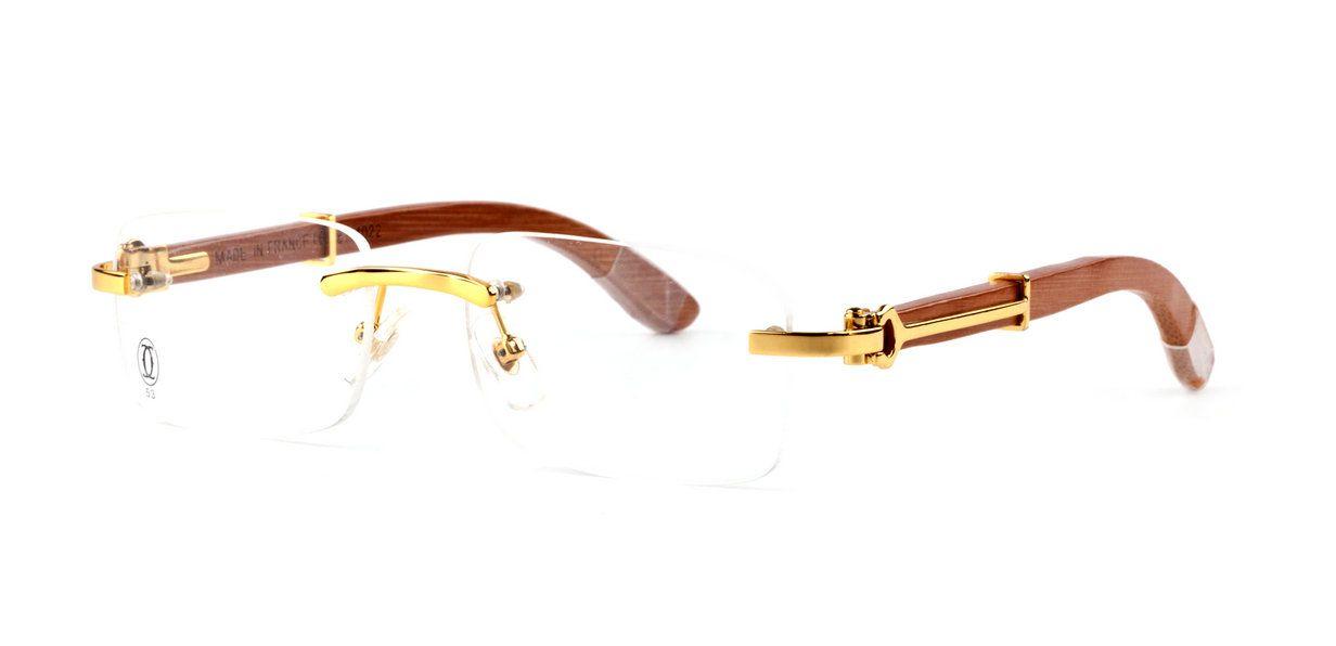 Cartier Glasses Wooden Frames Fake Cartier Wood Frame Glasses For Cheap In 2020 Wood Glasses Frames Glasses Wooden Frames Glasses
