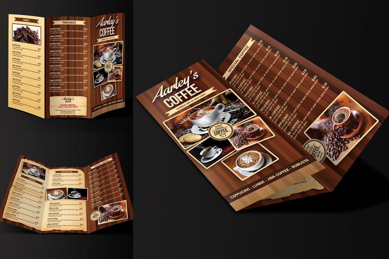 Coffee Menu Trifold by aarleykaiven on Brochure design
