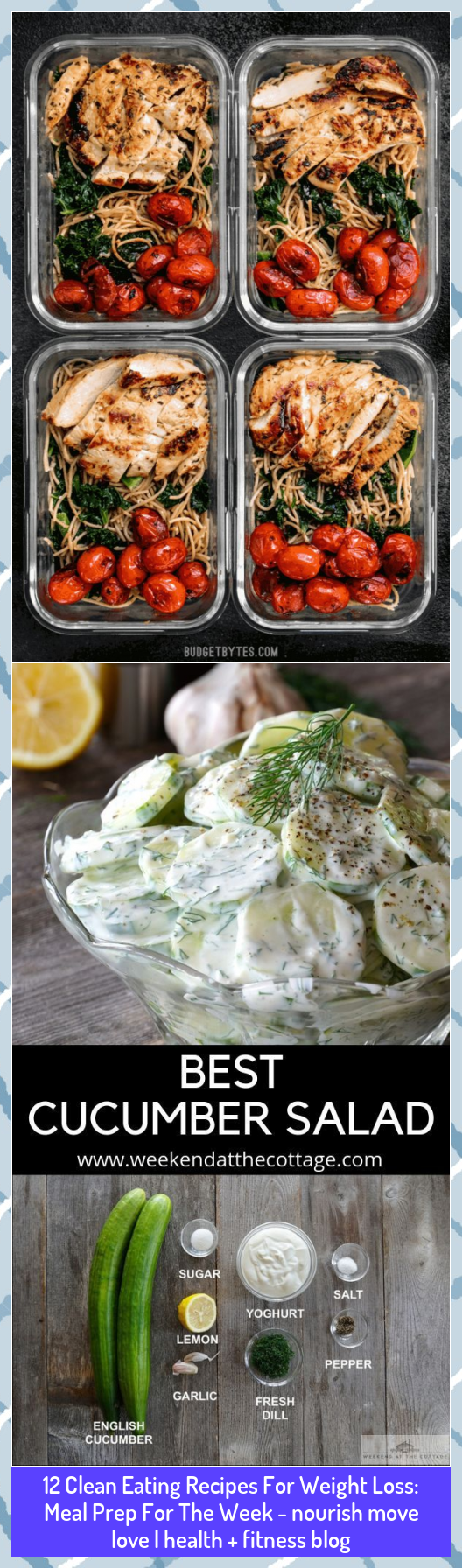 12 Clean Eating Recipes For Weight Loss: Meal Prep For The Week - nourish move love   health + fitne...