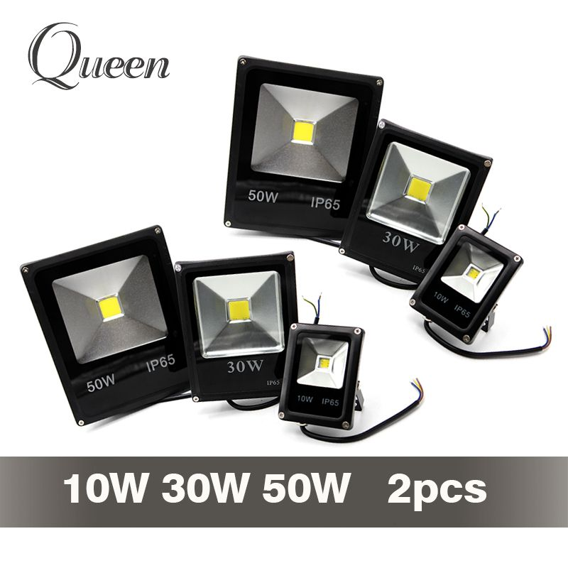 2 Pcs 30W LED Flood Light Outdoor Security COB Garden Wall Lamp Cool White IP65