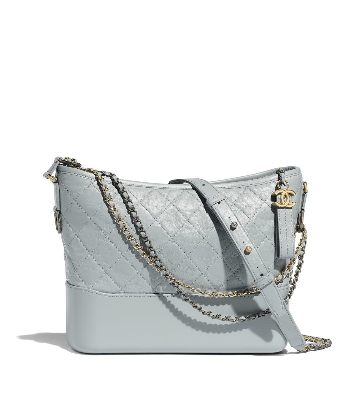0777a1adbda5 Handbags of the Spring-Summer 2019 Pre-Collection CHANEL Fashion collection  : CHANEL'S GABRIELLE Hobo Bag, aged calfskin, smooth calfskin, silver-tone  ...