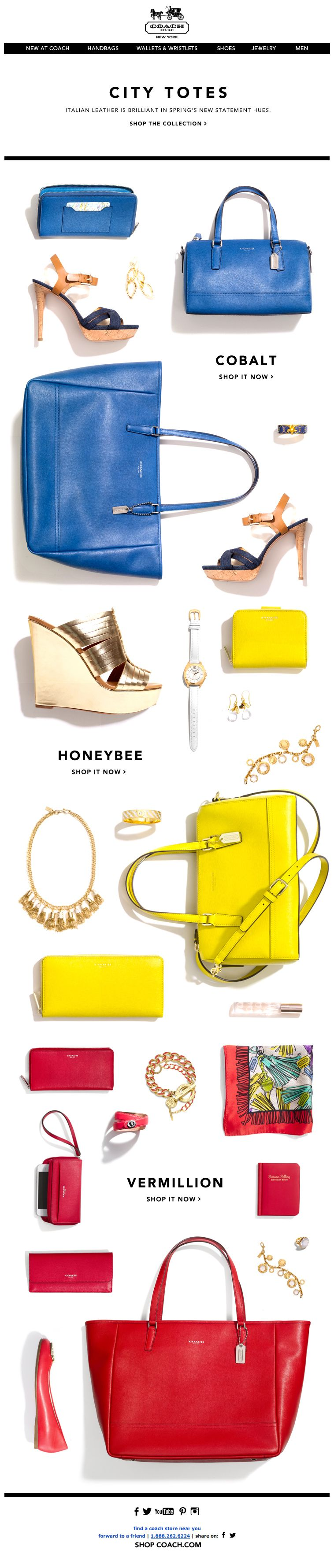 Coach : Color Story + Product Shots | Newsletters + Ads ...