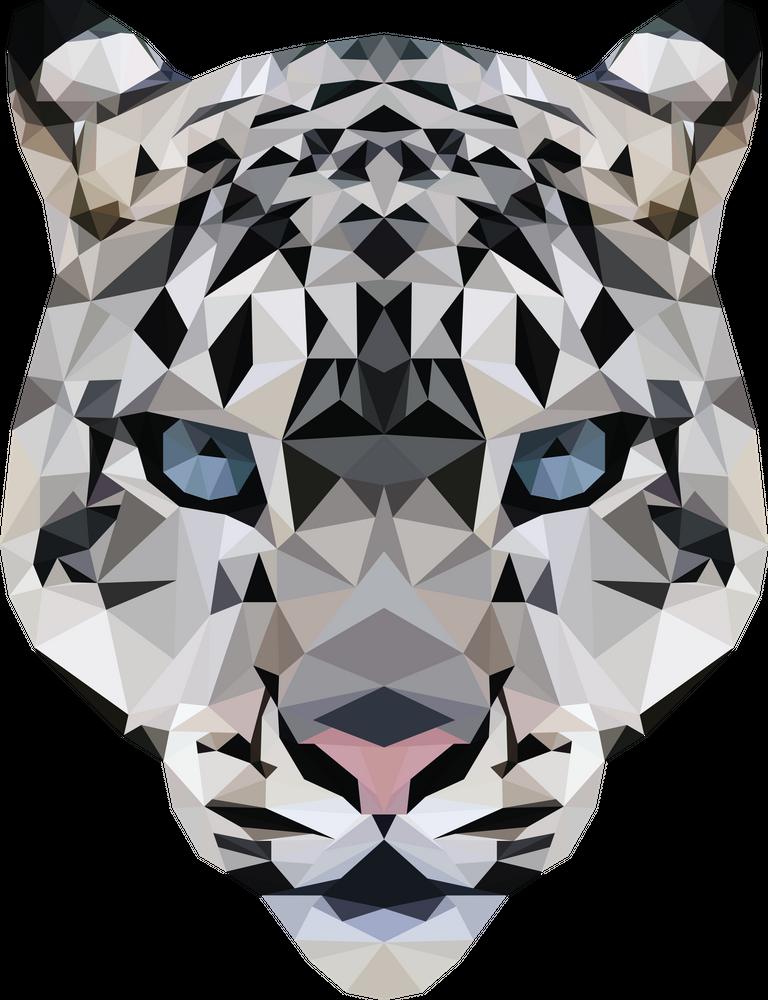 Low Poly Snow Leopard Art Print By Erin Frances Campbell X Small Snow Leopard Art Leopard Art Leopard Art Print