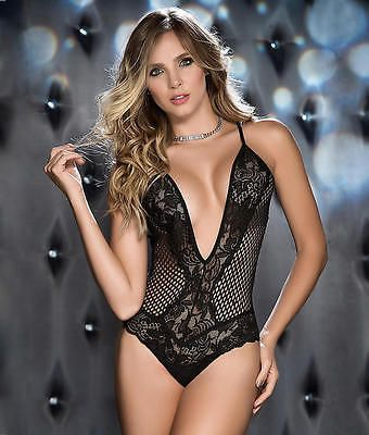 ab392f0916a5 Mapale Netted Lace Wireless Teddy Lingerie - Women's #8242 | Sexy ...