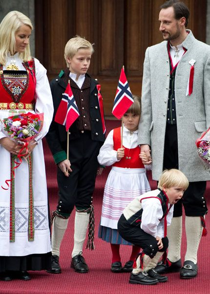 """The Royal family in Norway 17. Mai. Glad to see every family has """"that extra special kid"""""""